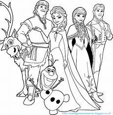 Kumpulan Gambar Untuk Belajar Mewarnai Gambar Frozen Yang
