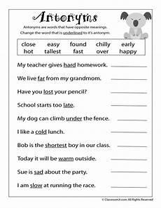 antonym worksheet woo jr kids activities language arts worksheets 2nd grade worksheets