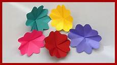 Blume Basteln Kinder - how to make simple paper flowers easy paper crafts for