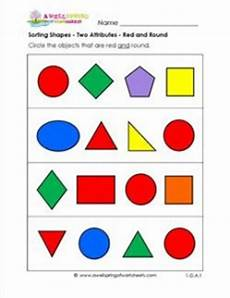 sorting objects by attributes worksheets 7746 sorting shapes two attributes and a wellspring