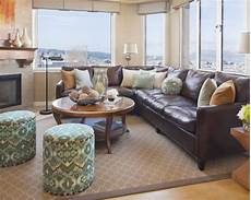 Home Decor Ideas With Brown Couches by Decorate Around Brown Furniture The Pillows Tie The Room