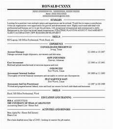 account manager resume objectives resume sle livecareer