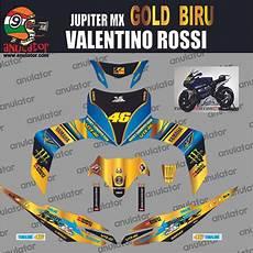 jual sticker striping motor stiker yamaha jupiter mx lama monster gold blue spec b di lapak