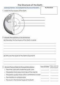 layers of the earth worksheet structure of the earth layers 3 differentiated