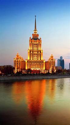Moscow City Wallpaper For Iphone by Russia Moscow City Dusk River Bridge Iphone X 8 7 6 5