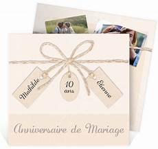 Invitation Anniversaire De Mariage Ficelle Pastel Trompe L