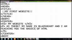 how to create a html how to create a website using html youtube