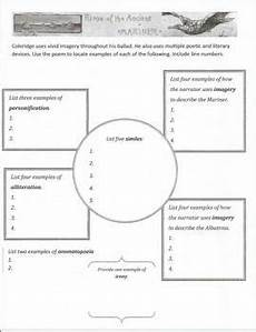 literary devices worksheet rime of the ancient mariner by rodriguez