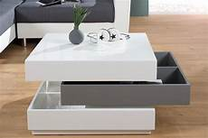 couchtisch wei 223 grau hochglanz 70 90cm drehbar dunord design