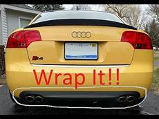 audi b7 s4 rear diffuser removal and wrap youtube