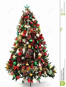Weihnachtsbaum Rot Weiß Geschmückt - tree green and gold royalty free stock