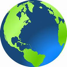 Gambar Vektor Gratis Bola Bumi Benua Planet Dunia