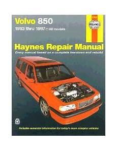 motor repair manual 1995 volvo 850 auto manual 1993 1997 volvo 850 haynes repair manual