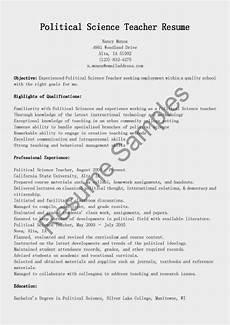 resume sles political science teacher resume sle
