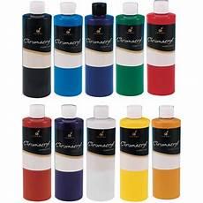 chromacryl 16 ounce acrylic paint black walmart com