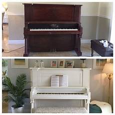before and after piano used valspar chalk paint quot kids gloves quot color living rooms
