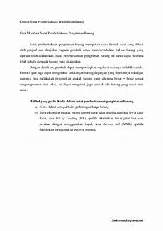 pdf contoh surat pemberitahuan pengiriman barang yosa academia edu