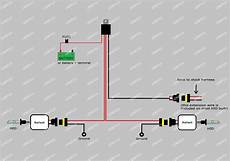 hid headlight conversion kit wiring diagram h3 h4 h7 h11 9005 9006 hid conversion kit relay wire harness adapter wiring ebay