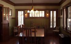 arts and crafts kitchen and dining room
