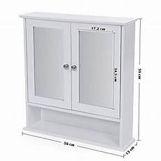 armadietto bagno con specchio songmics armadietto ripostiglio da bagno con specchio a 3