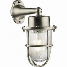 nickel outdoor wall light in traditional nautical styling