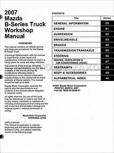 car repair manual download 2007 mazda b series navigation system 2007 mazda b series truck repair shop manual original b2300 b3000 b4000 pickup