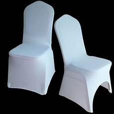 50pcs universal white stretch polyester spandex lycra wedding party chair covers for weddings