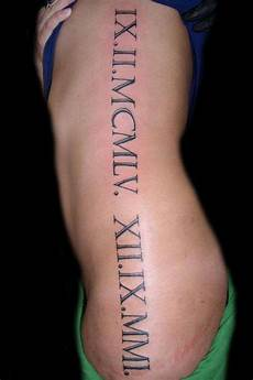 inked up roman numeral tattoos