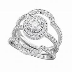 4 9ct 925 silver 3 piece wedding engagement halo bridal ring ebay