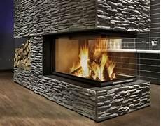 kamin modern naturstein ofen panorama klimaanlage zu hause