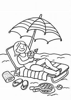 Kostenlose Malvorlagen Sommer Ausmalbild Sommer Ausmalbild Eisessen Am Strand