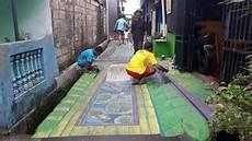 Kreatif Warga Sukmajaya Depok Ubah Jalan Penuh Lukisan 3d