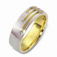 men s two tone gold and diamond band 471 seattle
