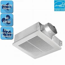 exhaust bath fan 80 cfm ceiling wall mounted quiet indicator light steel white 885917000974 ebay
