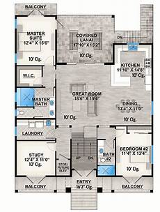 house on stilts floor plans plan 86088bw 2 bed country stilt house with covered lanai