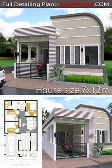 simple sims 3 house plans one story home design plan 7x12m with images small