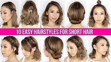 10 easy ways to style short hair bob yong youtube