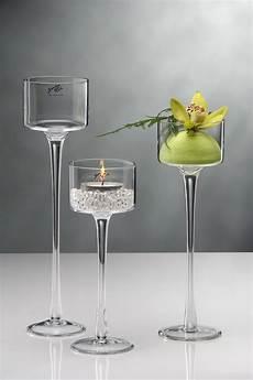 kerzenst 228 nder kerzenleuchter kerzenhalter glas 35 cm ebay