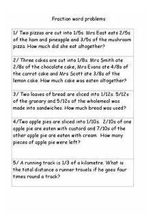fraction word problems worksheets grade 4 11300 fraction word problems worksheet for 4th 5th grade lesson planet