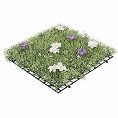 Gazon Artificiel Gifi Dalle De Fleurs Jaunes Violettes