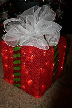 Lighted Decorations deck the s how to make a lighted chrstmas present
