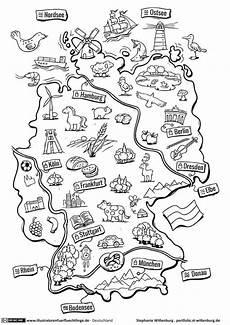 deutschlandkarte mit bildern deutschland schule
