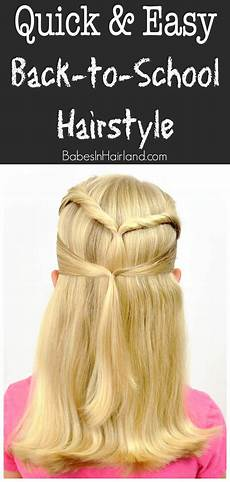 quick easy back to school hairstyle babes in hairland