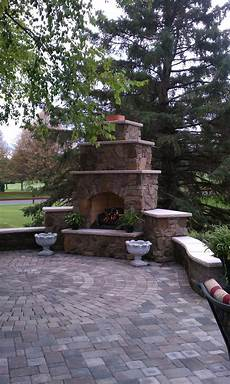 custom outdoor fireplace maronne blend fieldstone eiklor gas log city fireplace stone