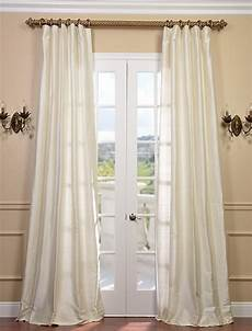 Silk Drapery Panels by Pearl Textured Dupioni Silk Curtain Traditional