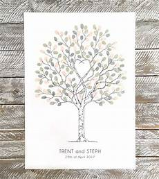 unity tree wedding fingerprint guest book alternative guest book fingerprint tree