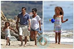 Halle Berry Olivier Martinez Nahla Aubry Beach Easter