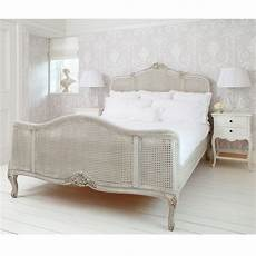 grey painted rattan bed bedroom company