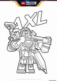 coloriage lego nexo knights bouclier axl dessin