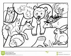 forest animals coloring book coloring book page black